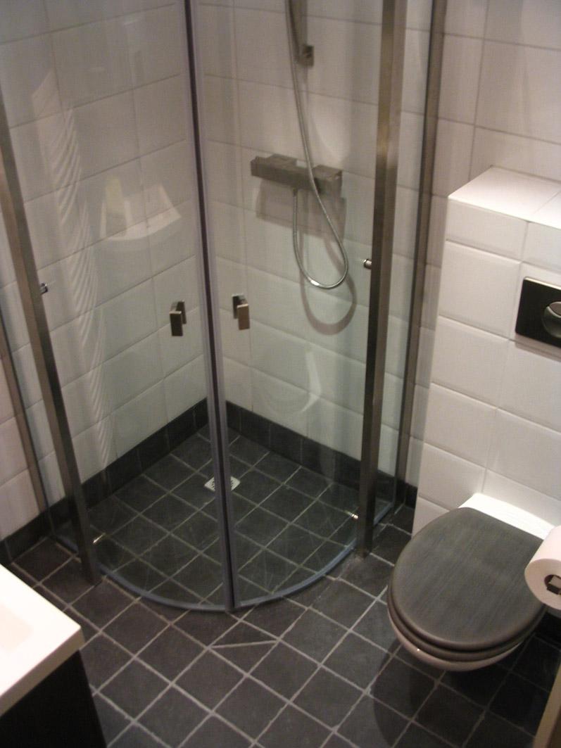 kleine functionele badkamer
